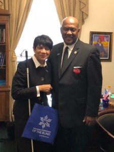 Denise Brown with Congressman Dwight Evans during the 2018 Washington Seminar