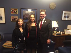 Emily Gindlesperger, Angelina, and Congressman Keith Rothfus