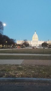 Capitol Building with Blood Blue Supermoon