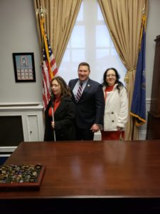 Emily Gindlesperger and Angelina with Congressman Reschenthaler