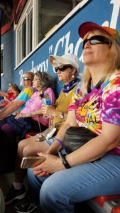 Greater Berks Chapter members enjoying the Reading Fighting Phils game.