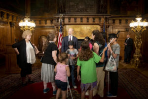 2019 Harrisburg NFB BELL Academy students and teachers with Pennsylvania Governor Tom Wolf